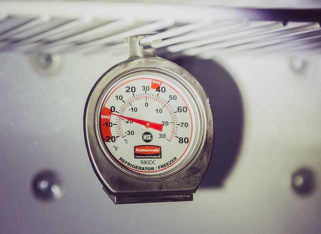 51019fae0f602 يمكن استخدام ميزان حرارة مخصّص لقياس درجة حرارة الثلاجة والفريزر كطريقة  سريعة في ضبط ترموستات الثلاجة.