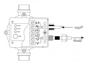 طريقة توصيل الكهرباء إلى أوتوماتيك موتور المياه ومنه إلى المضخة المنزلية